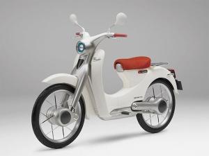 Hondas electric super-cub motorcycle