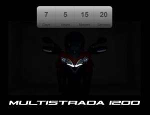 The Multistrada 1200 teaser site